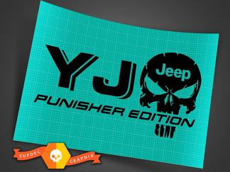 Truck Car Decal - (2) YJ JEEP Punisher EDITION - Vinyl decal Outdoor vinyl