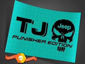 Truck Car Decal - (2) TJ JEEP Punisher EDITION - Vinyl decal Outdoor vinyl