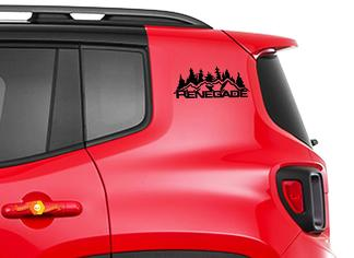 2pcs Vinyl Door Decal Sticker Side Graphic for JEEP RENEGADE Set s1
