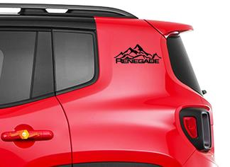 2pcs Vinyl Door Decal Sticker Side Graphic for JEEP RENEGADE Set s2