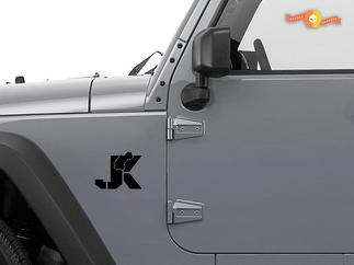 JEEP Wrangler JK Wrangler Decals Stickers Sahara Rubicon premium Set of 2
