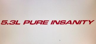 5.3L PURE INSANITY (3) Hood sticker decals For Chevy, GMC Silverado, Sierra