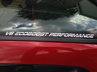 2 VINYL DECALS Hood Window FITS V6 ECOBOOST PERFORMANCE