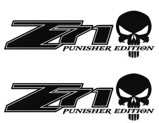 Chevy Z71 Punisher 4X4 Off Road Decals truck Silverado Chevrolet