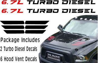 Dodge Ram Hd Hood Vent Decals L Turbo Diesel Package on Dodge Ram Gear Knob