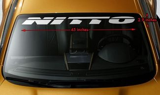 NITTO TIRES RACING OFFROAD Premium Windshield Banner Vinyl Decal Sticker 45x2.9