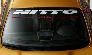 NITTO REIFEN RACING OFFROAD Premium Windschutzscheibe Banner Vinyl Aufkleber Aufkleber 45x2.9