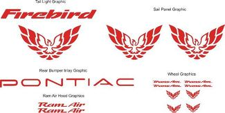 Pontiac Firebird Trans Am Bundle Graphic Decal Set 1998-2001