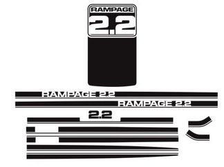 1983 1984 Dodge Rampage 2.2 Decals & Stripes Kit