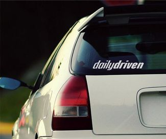 Daily Driven Sticker Decal JDM illest Tuning Honda Mazda Subaru Window Bumper