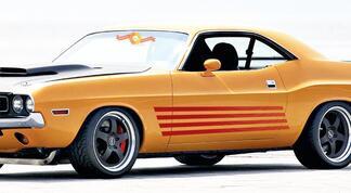 1972 1973 1974 Dodge Challenger Rallye Seite Strobe Stripes Panel Decals Kit
