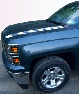 Hood Spear Graphics - 2014-2015 Silverado 1500