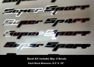 2 Super Sport Decals Rally Sport Chevy Camaro Chevrolet SS  WOW 0012