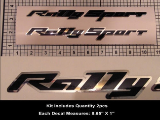 RS SS Rally Sport Decal Kit 2pcs Camaro Super Sport Chrome Hood Scoop