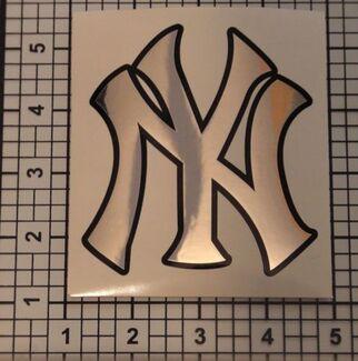 Yankees Aufkleber Baseball Chrom schwarz Grafik Aufkleber