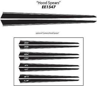 RS HOOD SPEARS Vinyl Decals Stripes * Pro Grade 3M Graphic 2013 Chevy Camaro