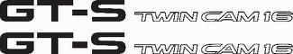GT-S Twin Cam 16 AE86 vinyl Sticker Decals - SET of 2