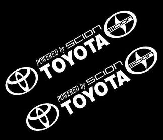 CSK Powered by TOYOTA SCION STICKER VINYL DECAL VEHICLE CAR WALL 1 SET OF 2