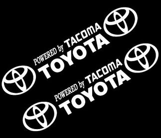 CSK Powered by TOYOTA TACOMA STICKER VINYL DECAL VEHICLE CAR WALL 1 SET OF 2