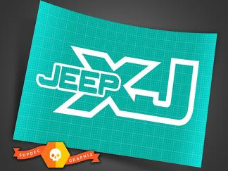 Jeep XJ - Any Color - Vinyl Decal Sticker Off Road Cherokee Trails Rock Crawling 4x4