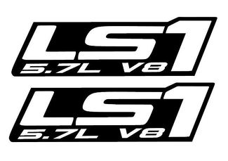 LS1 - Vinyl Decals - TWO -black- Chevy Camaro Corvette Trans Am LS LSX Swap 5.7L