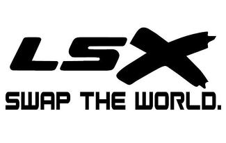 LSX Swap The World - Vinyl Decal - Black - Chevy LS Mustang BMW Nissan Ford