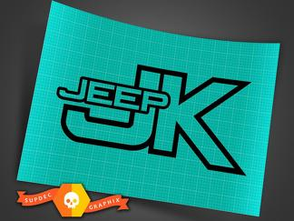 Jeep JK - Black - Vinyl Decal Sticker Off Road Wrangler Trails Rock Crawling 4x4