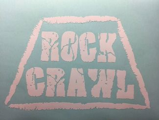 Rock Crawl Decal Sticker F/ Car Truck Suv Trailer Computer