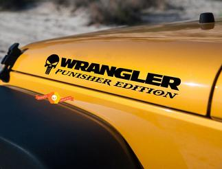 Jeep Wrangler Punisher TJ LJ JK JKU Vinyl Hood Decal Sticker Car Truck