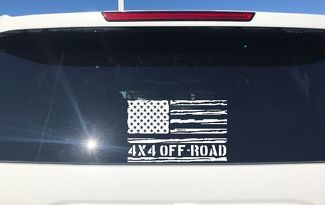 Distressed American Flag 4x4 OFF ROAD Decals Sticker Jeep Suburban Silverado (1)