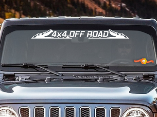4x4 OFF ROAD - Windshield Banner Decal Back window Sticker fits Jeep mud