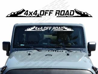 4x4 OFF ROAD - Windshield Banner Decal Back window Sticker fits Jeep mud WB20