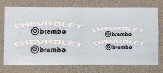 CHEVROLET Brembo Camaro SS Brake Caliper High Temp. Vinyl Decals (Any Color)