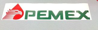 Pemex Mexico Gas Station Vinyl Decal Sticker (Any Color)