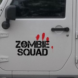 2x Zombie Squad Outbreak Response Jeep Blood Door Decal Vehicle Truck Car Vinyl