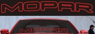 MOPAR DODGE HEMI Vehicle Windshield Sticker Vinyl Decals Graphics Letters