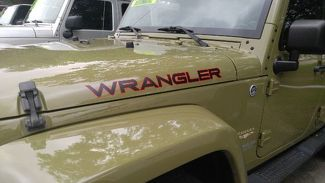2pcs WRANGLER 2-colors Hood Side Decal Vinyl Graphic JEEP WRANGLER RUBICON
