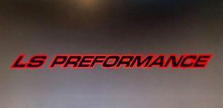 LS PERFORMANCE OUTLINE SERIE Haubenaufkleber Für Chevy, GMC, Silverado, Sierra