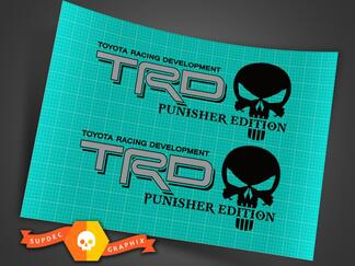 Toyota TRD Truck Off-Road Racing Tacoma Tundra The Punisher Edition Decals Sticker Decal