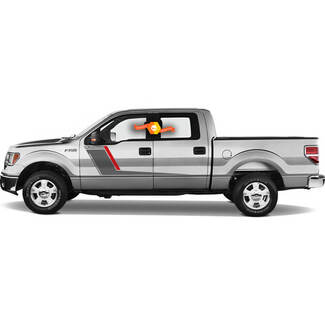 Ford F-150 Platinum Side Stripes Graphics Decals Duo Color Vinyl