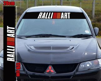RALLIART sticker decal mitsubishi evo sunstrip windshield spirit of competition