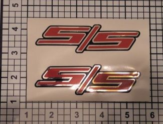 SS Decals Custom Set X2 Camaro Silverado Chrome Red Black, NICE