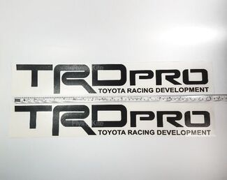 TRD PRO Toyota Tacoma Tundra vinyl bed side Matte Black Gloss decal sticker Set