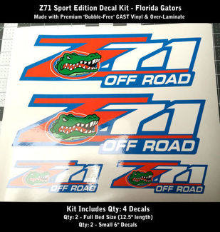 Z71 Decal Kit Florida Gators Premium Bubble-Free Cast Vinyl 0068