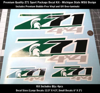 Z71 Decal Kit 4pcs Sport Package Michigan State MSU Premium UV 0183