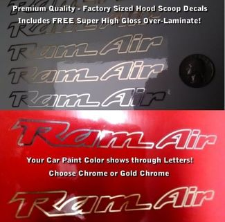 Trans Am Ram Air Hood Scoop Decals SET X2 OUTLINE ONLY CHROME OR GOLD
