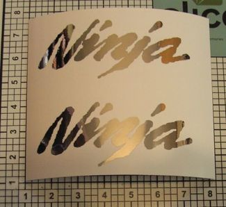 Ninja Cowling Decals Set X2 Mirror Chrome 6