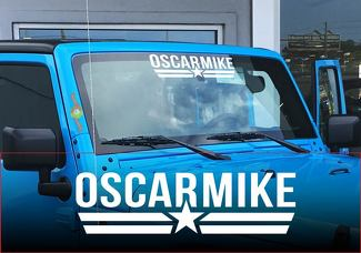 OM Oscar Mike JEEP Windshield decal sticker any colors JK TJ YJ all models