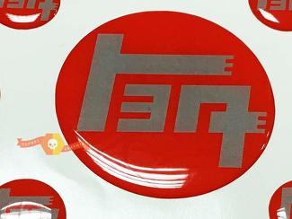 TEQ Rot mit grauem Toyota Domed Badge Emblem Resin Domed Decal Aufkleber für 4Runner FJ Cruiser