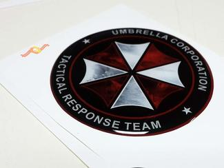 Umbrella Corp Tactical Response Team Domed Badge Emblem Resin Decal Sticker
